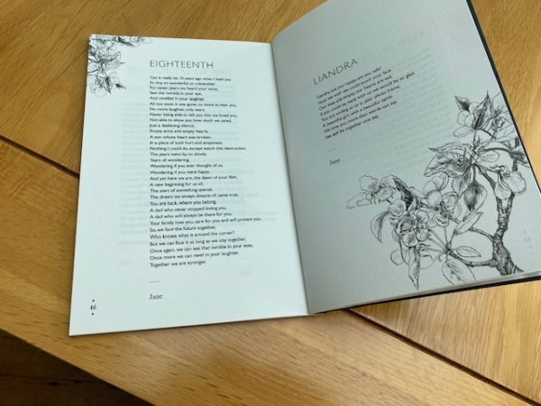 Never Forgotten - A Collection of heartfelt Poems - Page Spread