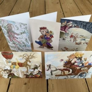 Various Christmas scenes illustrated by Paul Jackson